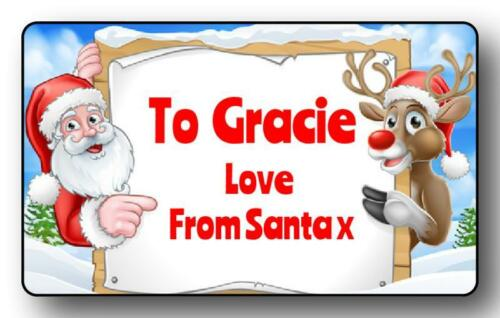 21 CHRISTMAS SPECIAL LOVE FROM SANTA GIFT LABELS ANY NAME BUY 1 GET 1 FREE