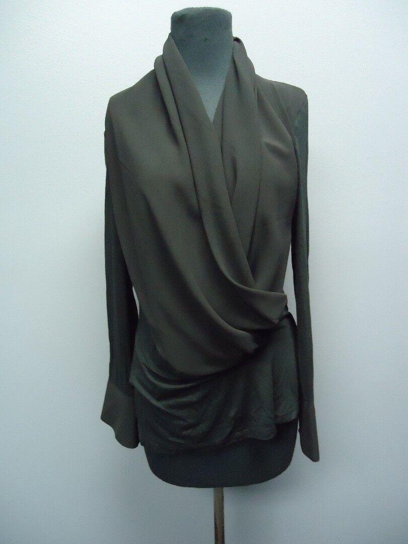 FEMME FATALE schwarz Long Sleeves Cowl Neck Blouse Sample NWT Sz S EE9425