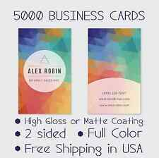5000 full color double sided custom business cards real printing ebay 5000 full color double sided custom business cards real printing free shipping reheart Image collections