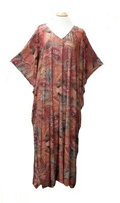 Ladies polyester Viscose printed stretch soft Kaftan//beach dresses 10-32 15130
