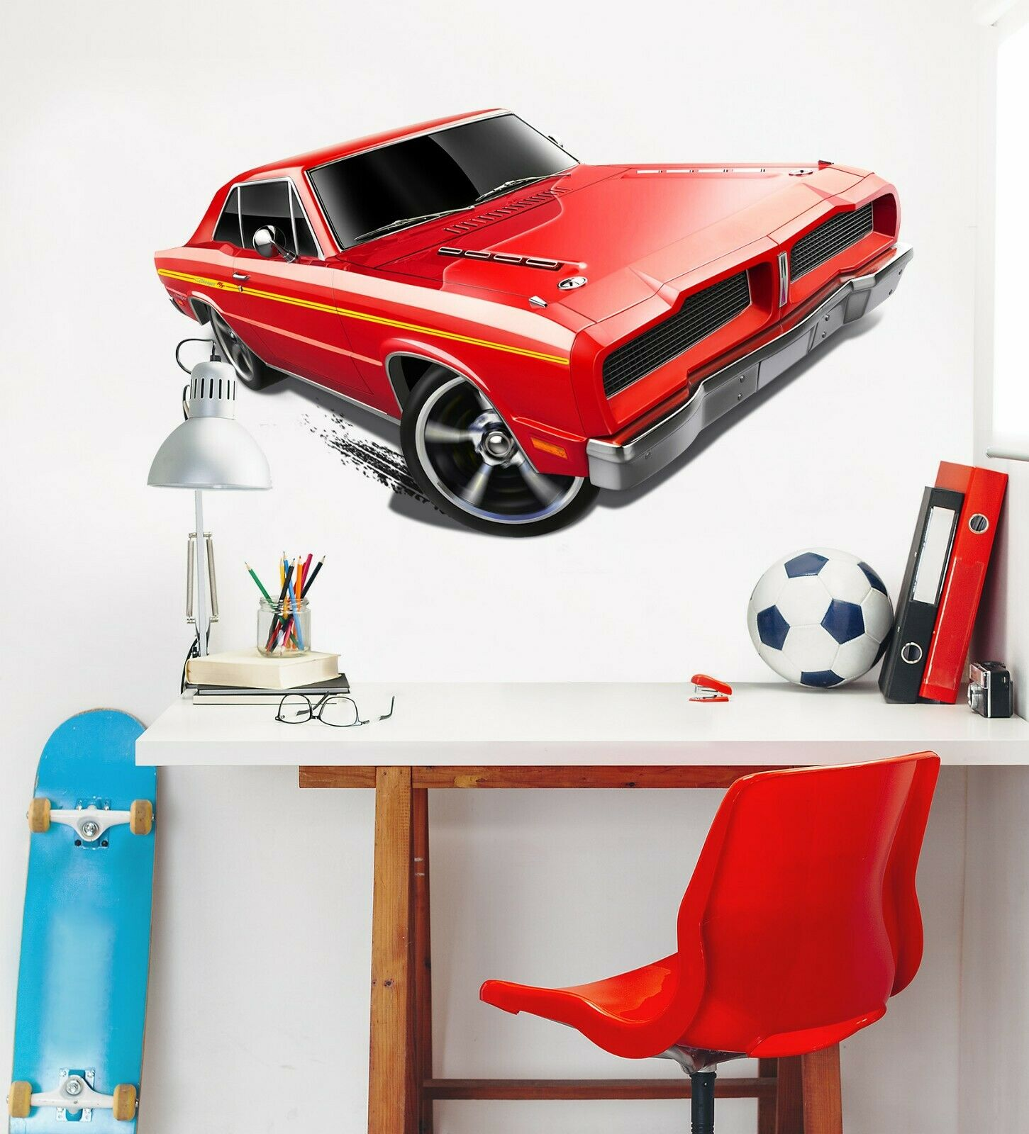 3D Maserati rot O03 Car Wallpaper Mural Poster Transport Wall Stickers Amy