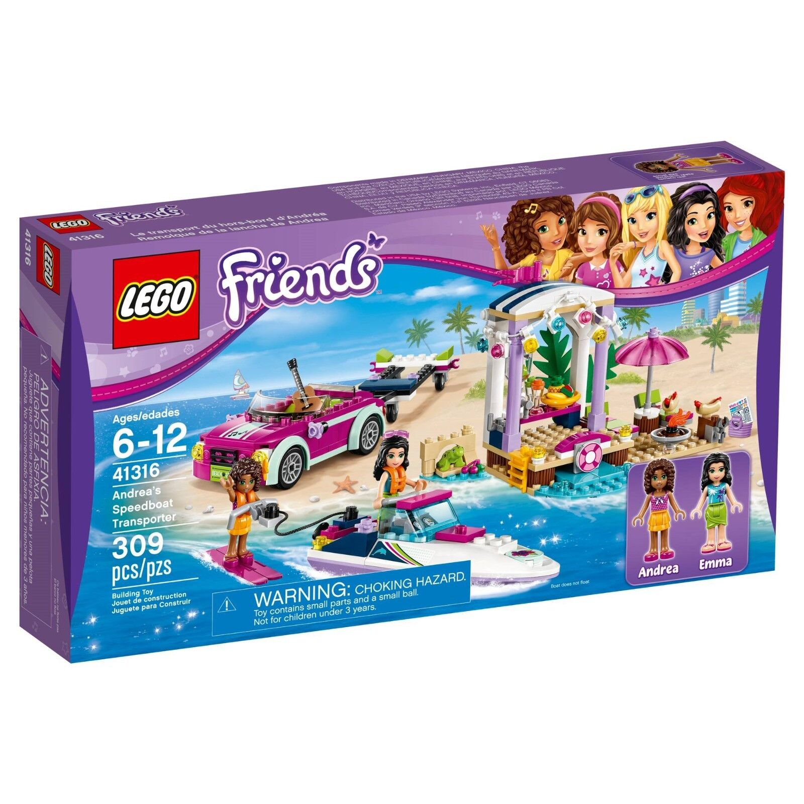 LEGO   41316   Friends   Andrea's Speedboat Transporter   New Set - June 2017