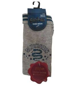 Harry-Potter-Slytherin-Knee-Highs-Socks-1-Pair-Women-039-s-Sock-Gift-UK-4-8-Primark