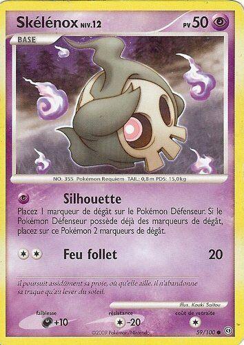 """Carte POKEMON /"""" SKELENOX /"""" Niv 12 Tempête 50PV 59//100 VF"""