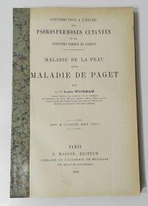RARE : MALADIE DE LA PEAU DITE MALADIE DE PAGET - L. WICKHAM ...