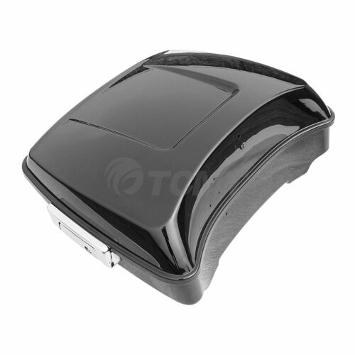 Black Chopped Tour Pak Pack Trunk For Harley Touring Electra Road Glide 2014-19