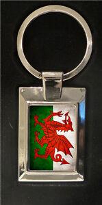 Welsh-Flag-high-polished-metal-keyring