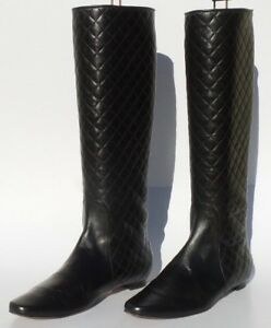 04611f59e3560 Image is loading MANOLO-BLAHNIK-Irieboot-Black-Quilted-Leather-Tall-Pull-