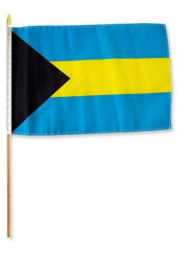 "12x18 12/""x18/""  Bahamas Stick Flag wood staff"