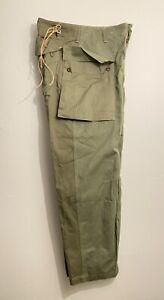 WWII-USMC-Marine-Corps-HBT-P44-Trouser-Monkey-Pants-NEW-OLD-STOCK-Vintage-32x30