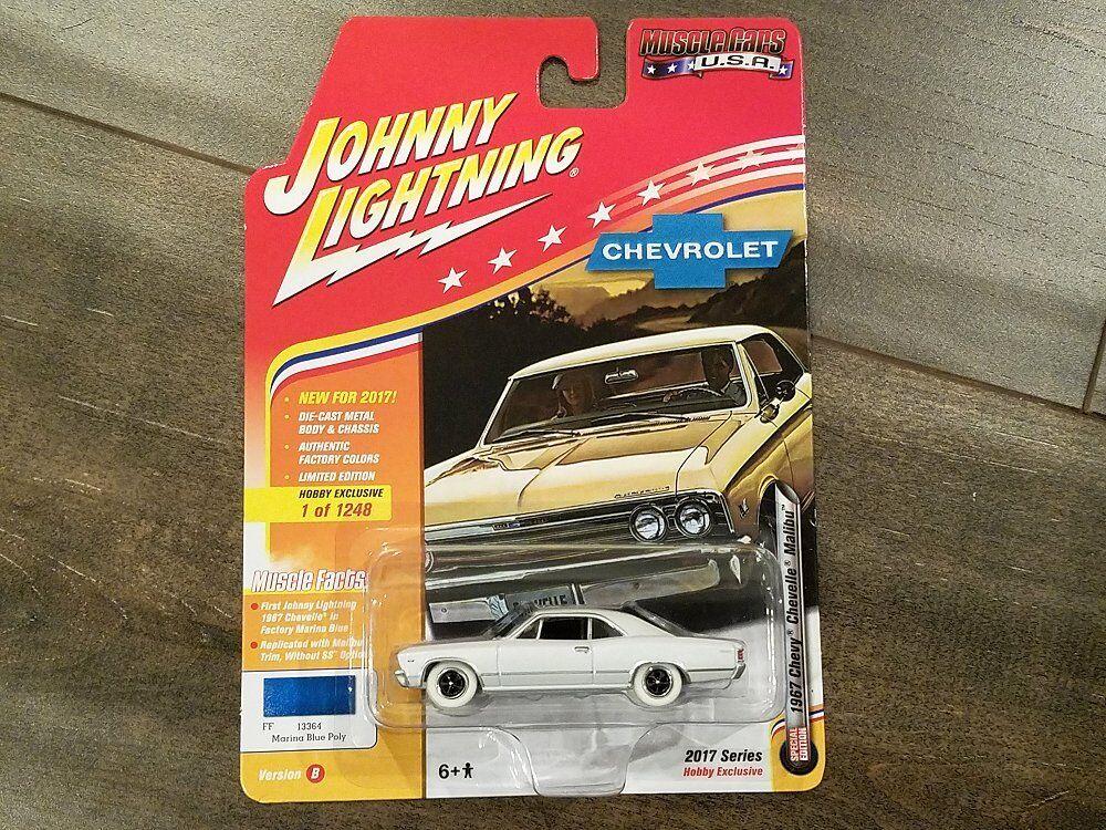 JOHNNY LIGHTNING 1 64 MUSCLE MUSCLE MUSCLE CARS USA 1967 CHEVY CHEVELLE MALIBU JLMC006-B CHASE 5a3094