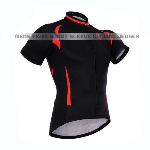 Mens Summer Black Bike Cycling Jersey Short Sleeve Shirt Biking Maillots Tops