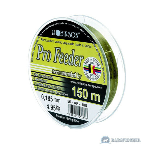 150m ANGELSCHNUR PRO FEEDER FLUOROCARBON COATED ROBINSON VAN DEN EYNDE 0,04€//m