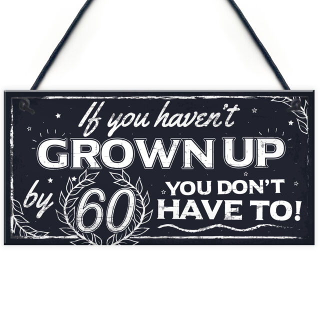Funny 60th Birthday Hanging Novelty Plaque Friendship Family Grandparents Gift