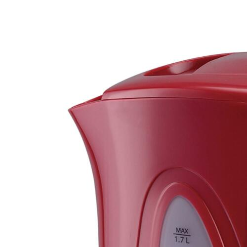 1.7 Litre 2200 Watt Cordless Electric Kettle Super Fast Boil Washable Filter Red