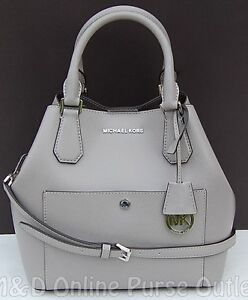 Details about NWT Michael Kors Greenwich Saffiano Leather Large Grab Bag Tote ~Pearl Grey