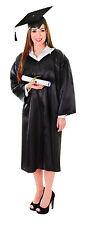 Unisex Black Graduation Robe Fancy Dress Costume University College Outfit New