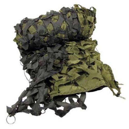 Tarnnetz 3 x 2 m Tragebeutel Tarn Netz Tarnung Party Camping Outdoor oliv weiß
