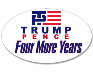 "Trump Pence Biden Harris Fu*k em/' both 2020 5/"" x 4/"" Political Window Sticker"