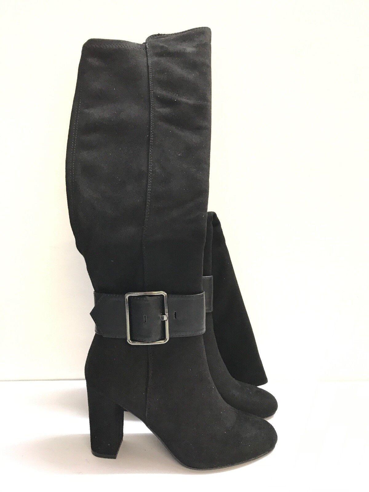 STAR COLLECTION Pour Femme Talon Bloc Bottes Hautes Noir Taille EU 38