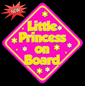 Mummys Little Girls on Board Baby on Board Car Sign Non Personalised Yellow /& HP