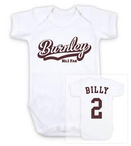BURNLEY Football Personalised Baby Bodysuit Vest