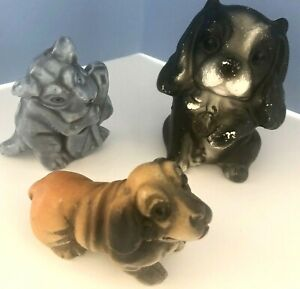 Vintage Dog Figurines 3 Various