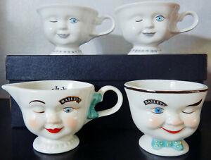 "Lot of 4 ""BAILEY'S IRISH CREAM"" Unused Winking Cups and Creamer"