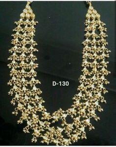 New-Kundan-Necklace-Bollywood-latest-Bridal-Indian-Choker-Fashion-Jewelry-Set-UK