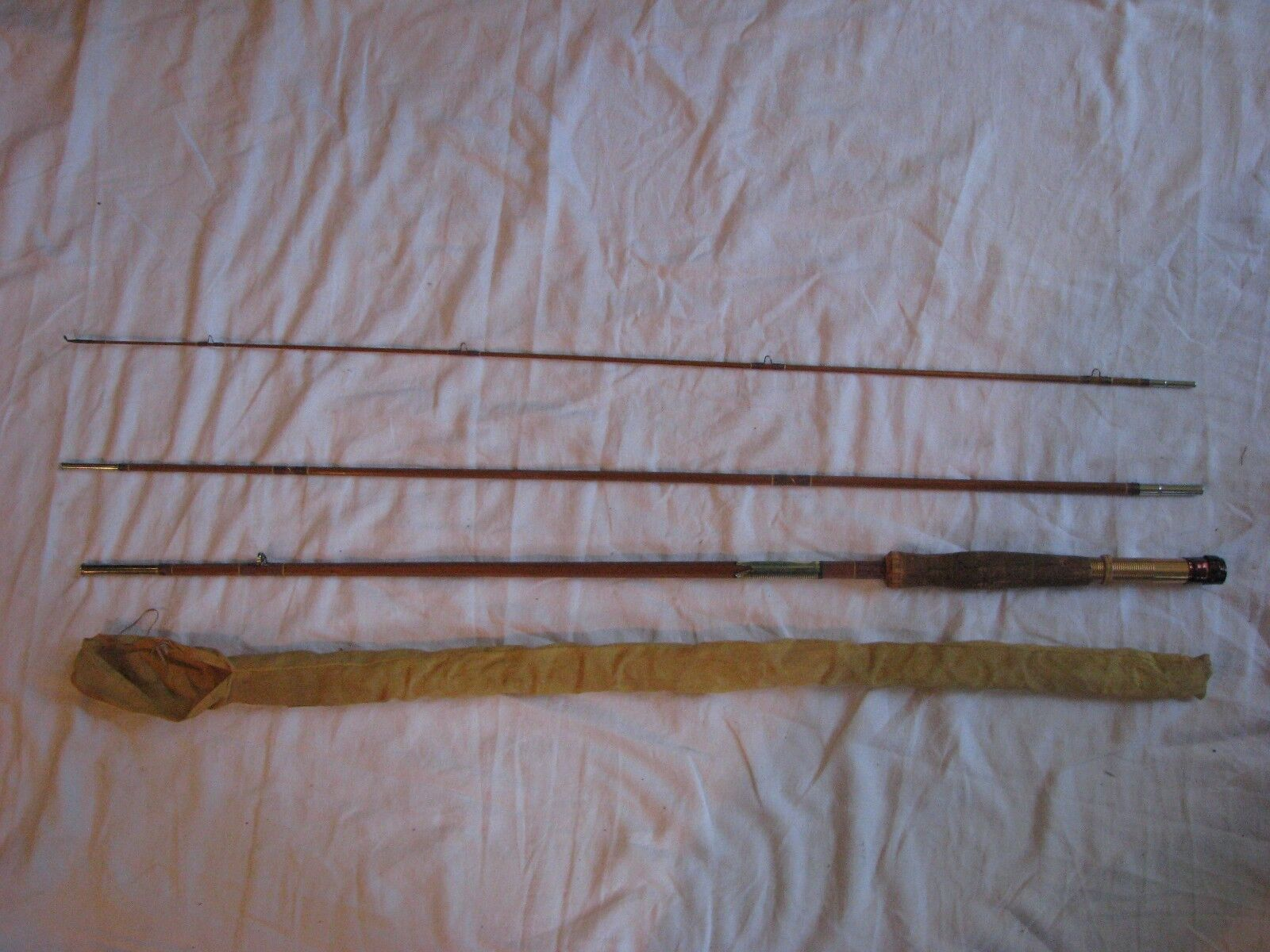 Vintage Stream Master Tokyo 3 pièces Bambou 8 FT (environ 2.44 m) Fly Rod original manches MIJ