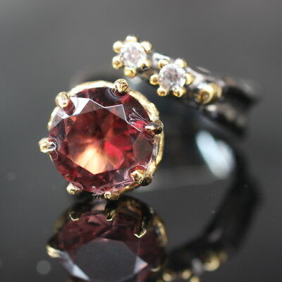 Turkish Handmade Jewelry 925 Sterling Silver Alexandrite Ring Earring Sz Adjusta