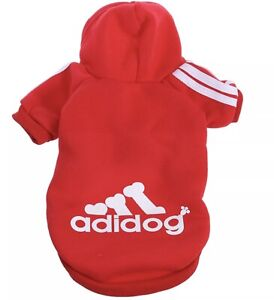 Uk Pet Coat Dog Hoodie Winter Clothes Puppy Cat Sweater Coat Cute Red Small Ebay