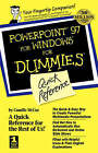 PowerPoint 97 for Windows for Dummies Quick Reference by Camille McCue (Paperback, 1998)
