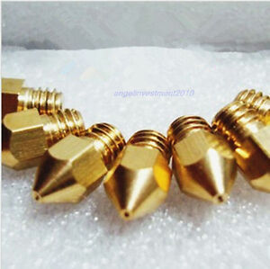 10pcs RepRap 3D Printer 0.35mm Brass Nozzle J-Head Hot End Makerbot Prusa Mendel