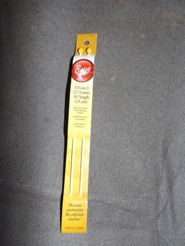 "Boye single point pack of two knitting needles US size 2 10/"" length NIP 1"