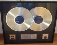 "ROLLING STONES ""Let It Bleed"" Double Platinum RIAA Award RARE"