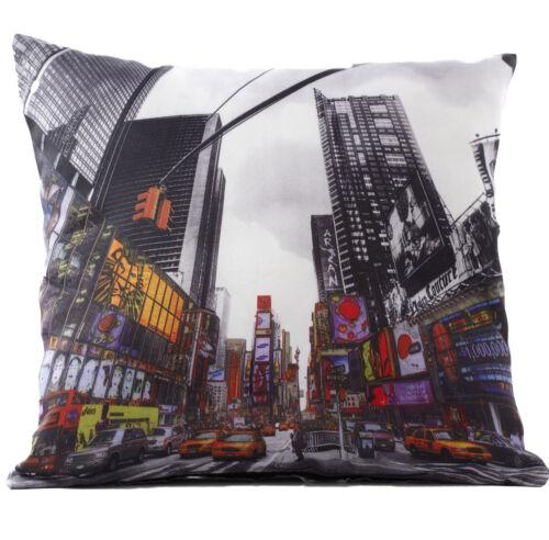 Photo Print Cushion Cover City Icons