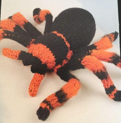 Printed Knitting Pattern For A TarantulaAnimal Toy