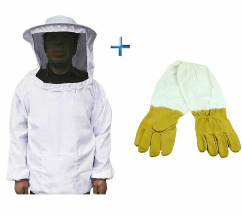 Beekeepers Schutzanzug Imkerjacke Hut Schleier Imker Jacke Imkerei Handschuhe.
