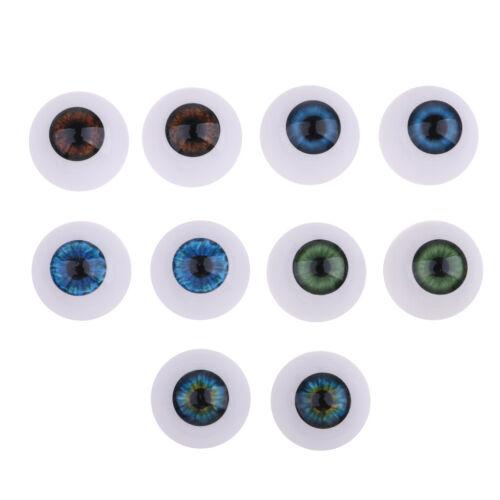 Set Acryl Oblate Augäpfel Augen Halloween Requisiten für Babypuppe 20 Stück