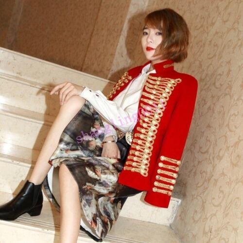 double Outwear de mélange pour boutonnage Fit Manteau vintage laine à Slim militaire en femme vwPvzYqR