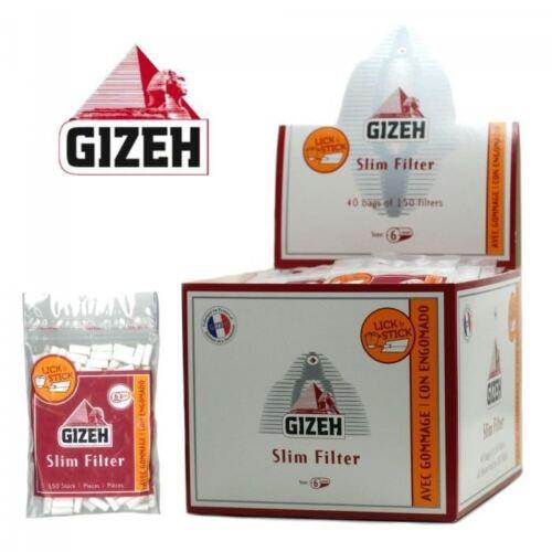 GIZEH Lot 10 Sachets de 150 Filtres Slim GIZEH 6 mm //// PROMO ! suivi offert !
