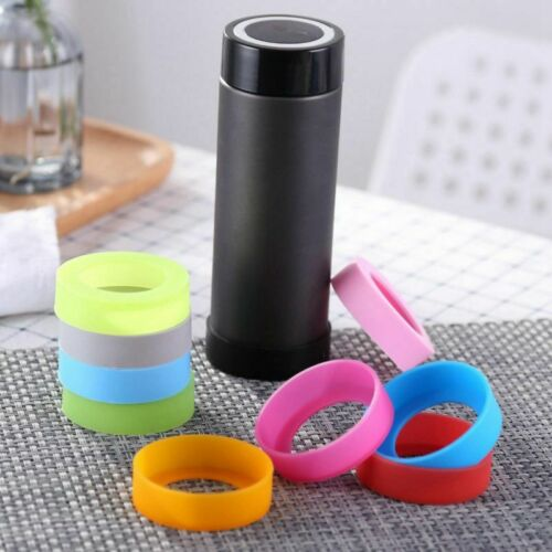 10x Bottle Bottom Silicone Heat Preserve Sleeve Wear-resistant Anti-fall Protect