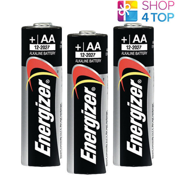 3 x Energizer AA Alkaline Battery Power lr6 1.5v mn1500 am3 e91 Mignon