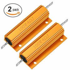 2pack Aluminum 4 Ohm 4 100w Watt Housed Wirewound Metal Case Resistors