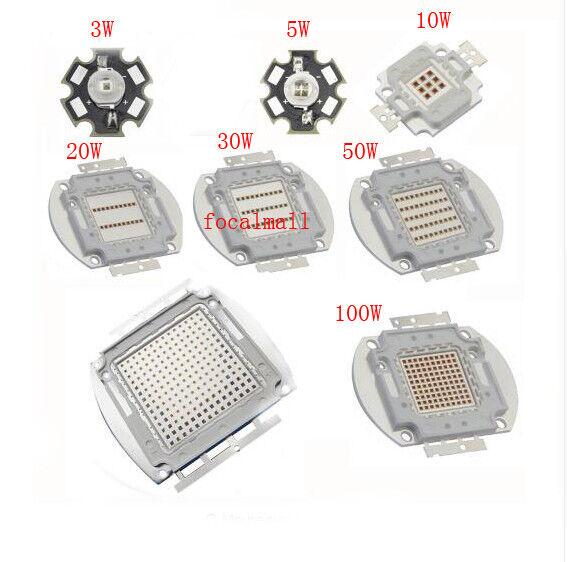 3W White Infrared IR 730nm 800nm 810nm 850nm 940nm 980nm 2-Chip High Power LED