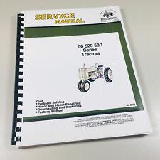 Service Manual For John Deere Model 50 520 530 Tractor Sm 2010 Repair Shop Book