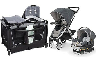 Chicco Bravo Trio Travel System Baby Stroller with Car ...