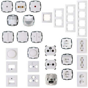 kopp paris steckdose schalter abdeckung dimmer bewegungsschalter wippe wei neu ebay. Black Bedroom Furniture Sets. Home Design Ideas