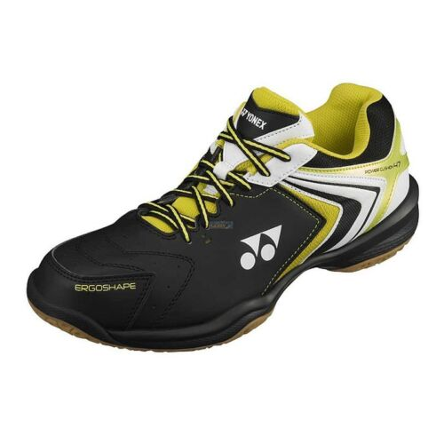 Yonex Men/'s Indoor Power Cushion Badminton Shoes SHB-47EX  Black Yellow 18U